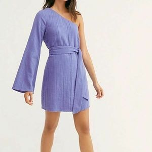 Free People Eyein' This Mini Dress Woven Purple
